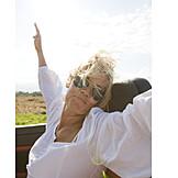Woman, Airflow, Vitality, Driving, Freedom