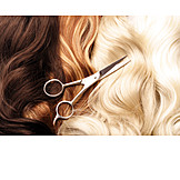 Scissors, Hairstyle, Hairdresser, Hair color