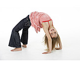 Girl, Bridge, Gymnastics