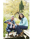 Couple, Togetherness, Picnic
