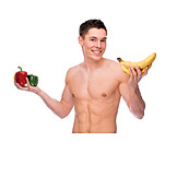 Young Man, Man, Health, Healthy Diet, Nutrition