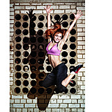 Young woman, Jumping, Dancer