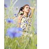 Young woman, Enjoy, Summer