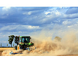 Harvest, Tractor, Field Work