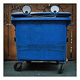 Eyes, Garbage bin, Streetart