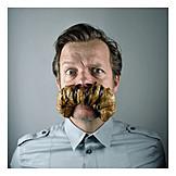 Man, Croissant, Mustache