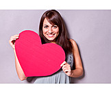 Young woman, Love, Heart