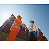 Cooperation, Logistics, Handshake, Arrangement