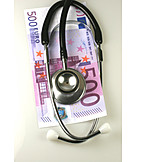 Banknote, Stethoscope, Health Care