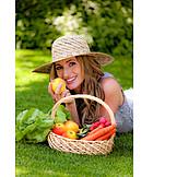 Woman, Harvest, Outbuilding