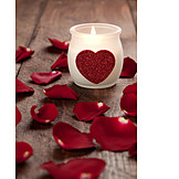 Love, Rose leaves, Candlelight