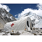 Tent, Red cross, Mount everest