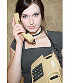 Young woman, Humor & bizarre, On the phone