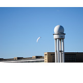 Radar, Radar tower, Tempelhof, Tempelhof airport