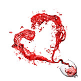 Heart, Wine glass, Red wine