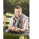 Young man, Potato harvest