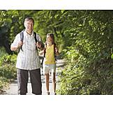 Active seniors, Hiker, Hiking vacation
