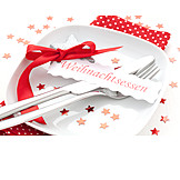 Christmas, Table Decoration, Table Cover, Feast, Christmas Dinner