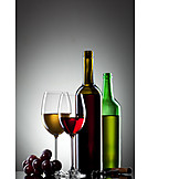 Indulgence & Consumption, Wine, Wine Glass, Wine Bottle
