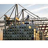 Cargo container, Container terminal