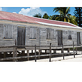 Wooden cabin, Stilt house