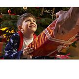 Boy, Christmas, Christmas present