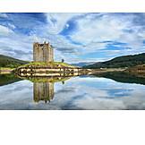 Scotland, Castle stalker, Loch laich