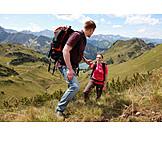 Hiker, Mountain tour, Hiking vacation