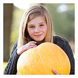 Portrait, Girl, Autumn, Rural Scene