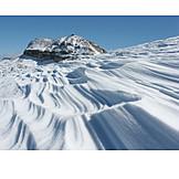 Dolomites, Snowdrift, Boespitze