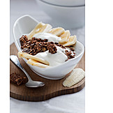 Dessert, Banana, Chocolate cereal