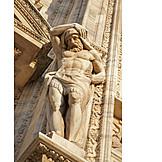 Facade, Giant, Milan cathedral