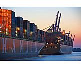 Container ship, Container ship, Container terminal, Burchardkai