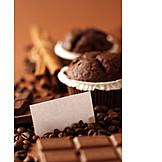 Chocolate, Coffee beans, Chocolate muffin