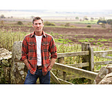 Man, Portrait, Rural scene