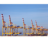 Container port, Container crane, Bremerhaven