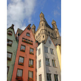 Old town, Cologne, Gross st martin