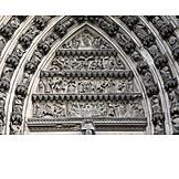 Statue, Cologne cathedral, Entrance portal