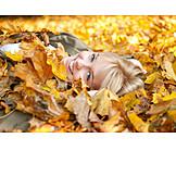 Girl, Autumn, Relax
