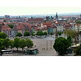 Market square, Erfurt, Cathedral square