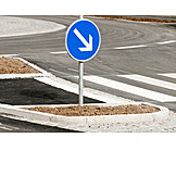 Traffic sign, Directional arrow, Traffic circle