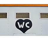 Heart, Toilet, Wc