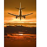 Holiday & Travel, Airplane, Arrival, Landing, Landing