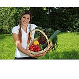 Harvest, Vegetable garden, Basket, Vegetable harvest