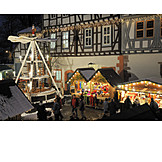Christmas market, Michelstadt, Christmas pyramid