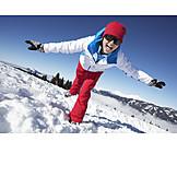 Woman, Fun & Happiness, Winter, Ski Vacation