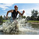 Sports & fitness, Sportsman, Athlete, Triathlon, Open water swim