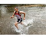 Man, Run, Sportsman, Runner, Trail running
