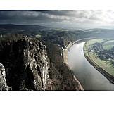 Elbe river, Saxon switzerland, Elbe sandstone mountains