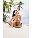 Young Woman, Indulgence & Consumption, Drinking, Beer, Vacation